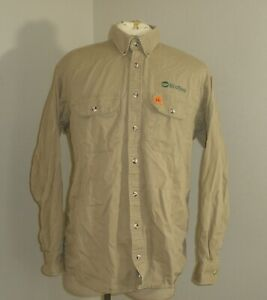 Mens RIGGS WRANGLER FR Fire Flame Resistant Long Sleeve work Shirt Large TALL LT