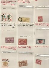 USA Stamps on old approval cards (Lot 1)