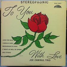 JOE ZAWINUL to you with love LP VG+ SLS 1007 Strand US Stereo 1959 Rare Jazz