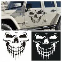 Hood Decal Vinyl Sticker Skull Car Auto Tailgate Window Reflective Truck SUV 16""