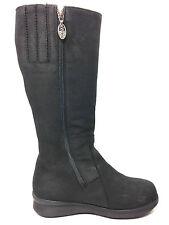 Pajar Tall Black  Nubuck Leather Sherling Waterproof Boot Size 5.5 USA