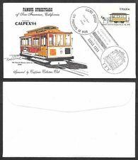 1984 Calpex Cover-Straßenbahnlinien, Seilbahnen
