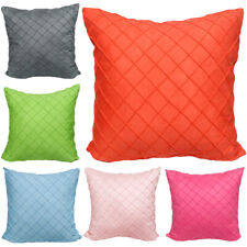 Cushion Cover Rhombus Plaid Pattern Soft Pillowcase Office Home Sofa Decoration