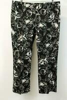 WHITE HOUSE BLACK MARKET Flare Crop Dress Pants Floral Printed Modern XL
