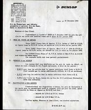 """PARIS (VIII°) PNEUS / PNEUMATIQUES AUTOMOBILE """"DUNLOP"""" en 1968"""