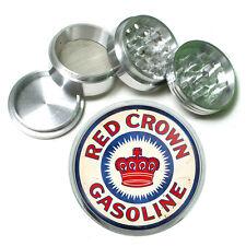 """Vintage Poster D257 Aluminum Herb Grinder 2.5"""" 63mm 4 Piece Red Crown Gasoline"""