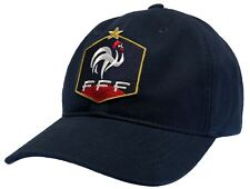 France Football Hat FFF French World Cup Ball Cap Dark Blue DAD Cap 100% Cotton