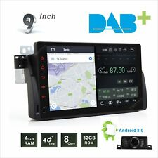 "BMW 3 Series E46 9"" Android 8.0 HD WiFi GPS 4G SAT NAV BT USB SD Aux Car Stereo"