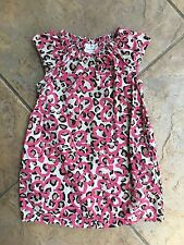 Hanna Andersson EUC 100 Girls 3-5 years Brown leopard print dress READ !!!