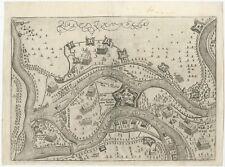 Antique Map of St. Andries (Heerewaarden) by Orlers (1615)