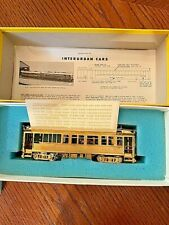 Interurban Coach HO Scale Brass Wood Train Car Pacific Electric MED 5