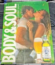 Special Export Light Beer / 1989 Body & Soul Sexy Couple Green Poster Man Cave