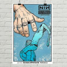 Nine Inch Nails Sound Garden Art Canvas Print Soundgarden Concert Gig Poster