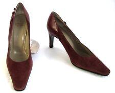 CHARLES JOURDAN Escarpins vintage tout cuir rouge 5.5 36/36.5 EXCELLENT ETAT