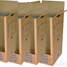 LARGE STRONG REMOVAL MOVING WARDROBE CARDBOARD BOXES PACK QTY 5