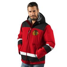 Chicago Blackhawks Power Play Hooded Parka Jacket - Red / Black By G-III
