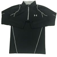 Under Armour Cold Gear Mens Fitted 1/4 Zip Pullover Sweater Black Size Small. B7