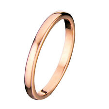 Rose Gold Plated Tungsten Carbide 2mm Width Dome Traditional Wedding Ring R676
