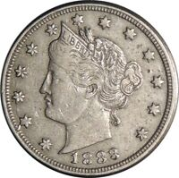 "1883 5C LIBERTY V NICKEL ""WITH CENTS"" XF DETAILS - LIGHTLY CLEANED  (050721419)"