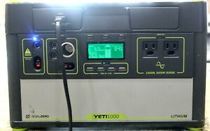Goal Zero Yeti 1000 Lithium Portable Solar Power Station