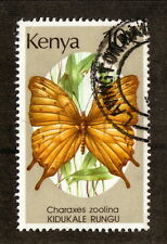Kenya--#438 Used--1988 Club-Tailed Emperor Butterfly