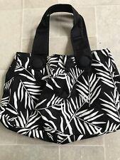 L K Bennett beautiful Monochrome tote handbag beach bag canvas New