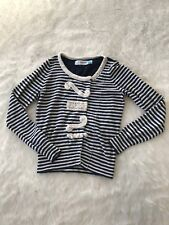 Sparrow Loose Lines Navy Stripe Cardigan Asymetric Snap Size Small