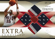 2006-07 Vince Carter UD Exquisite Extra Exquisite QUAD Jersey Patch #4/10 Rare