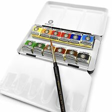 Royal Talens - Rembrandt Water Colour Paints- Metal Box of 12 Pans - Basic Set
