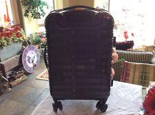 "iFLY Hard Sided Luggage Fibertech 24"", Black Double-Wheel Spinner"