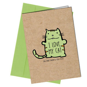 Cat BIRTHDAY / VALENTINE Card Rude greetings cards funny humour joke #1225