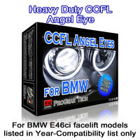 7000K White Heavy Duty BMW E46 Ci facelift CCFL Angel Eyes Halo Rings 106 mm x 4