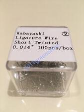 "Orthodontic S.S ligature Wire Kobayashi Ligature ties shorty twist .014"" -100pcs"
