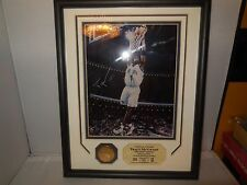 tracy mcgrady signed photo and 24 k overlay gold medallion coin