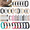 Replacement Wristband Silicone/Metal Strap Watch Bands For Fitbit Alta & Alta HR