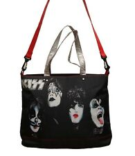DISCONTINUED Official KISS Painted Faces Rock & Roll Messenger Backpack Tote Bag