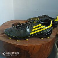 Adidas F50 f10 Yellow Black football Boots Uk 10 US 10.5 soccer cleats rare