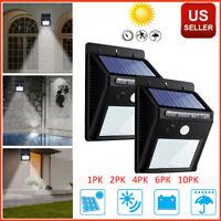 Outdoor Solar Lights Motion Sensor Wall Light Waterproof Garden Yard Lamp 20 LED