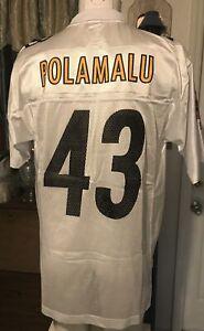 Pittsburg Steelers #43 Polamalu Superbowl XL Detroit 2006 Jersey NFL Reebok M 44