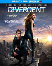 Divergent (Blu-ray/DVD, 2014, 2-Disc + Digital copy & Tattoos) w/slipcover, NEW!