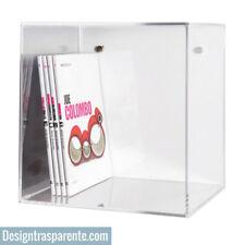 Mensola Cubo in plexiglas mensola da parete trasparente  design 33x33 P:25 cm_