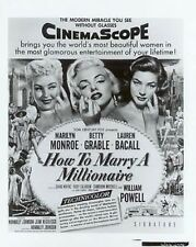"""HOW TO MARRY A MILLIONAIRE- M.MONROE - 8""""X10""""-B&W PHOTO"""