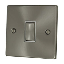 Discount Electrix 1 Gang 2 Way 10 Amp Light Switch Brushed Chrome Finish With WH
