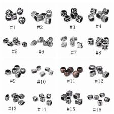 5pcs DIY Crafts Carving Beads Bracelets Stainless Steel Findings/Making Jewelry