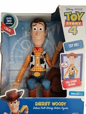 New listing Disney Pixar Toy Story Sheriff Woody Deluxe Pull-String Talking Action Figure