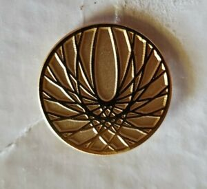 Boeing Award Round Gold Starburst Phoenix Wings Spirograph Lapel Pin