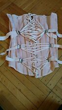 Shabby vtg corset pink Rose Pattern With Ties Strappy For Mannequin Display