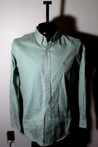 """Men's RALPH LAUREN Green """"Classic Fit"""" Dress Shirt Size 15.5/32/33"""