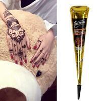 Kaveri Mehendi Henna Tattoo Dark Brown Mehendi Cones Mix HOT Lots V1J3