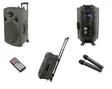 QTX QR15PA Portable Battery + Mains 250W PA Speaker + USB SD + 2 x Wireless Mics